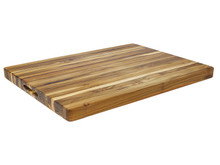 "Proteak Edge Grain Rectangle Cutting Board With Handles 24"" x 18"""