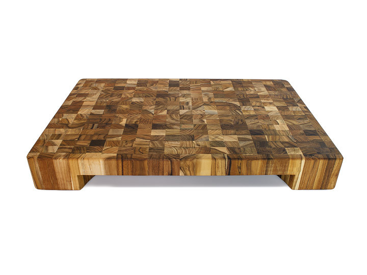 Side view of Proteak end grain bowl chopping block