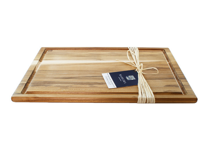 Madeira Provo Extra Large Teak Carving Board On Counter