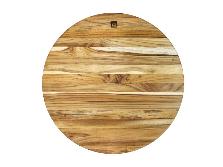 "Madeira Provo Collection Edge Grain Round 14"" Chop Block View From Top"