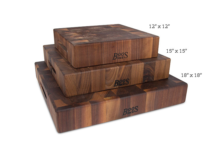 Stack of Walnut Butcher Blocks by John Boos