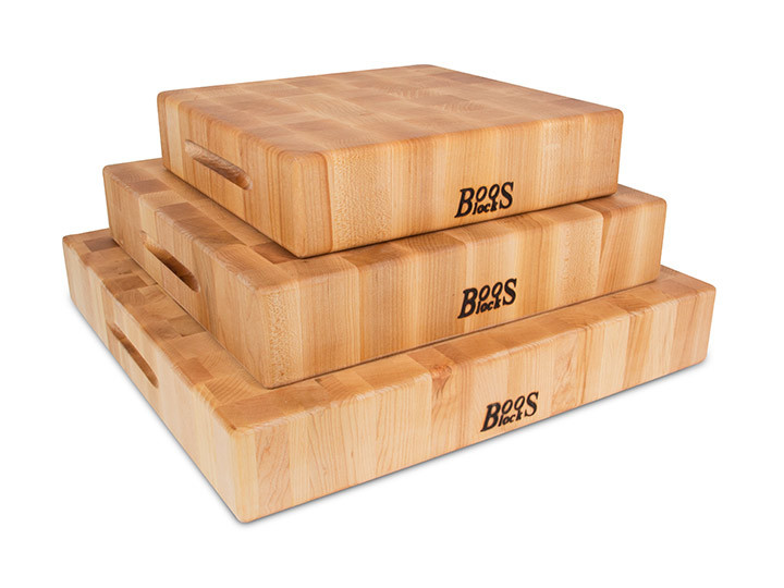 Stack of John Boos Maple Butcher Blocks