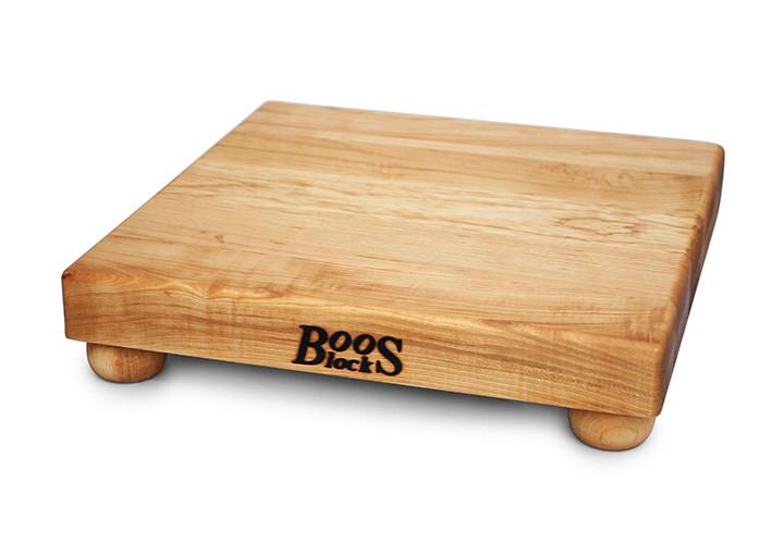 John Boos Maple Cutting Board with Bun Feet 12 x 12 x 1.5 NEW
