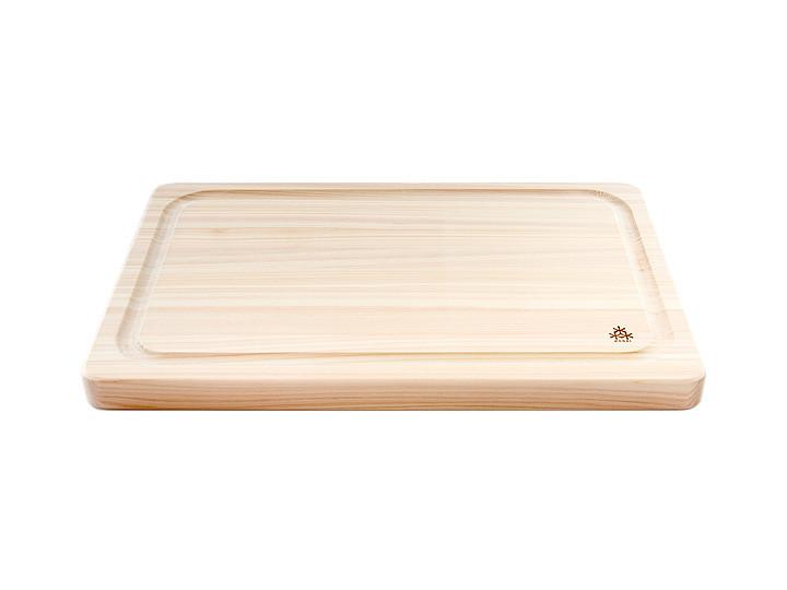 Japanese cypress hinoki grooved board