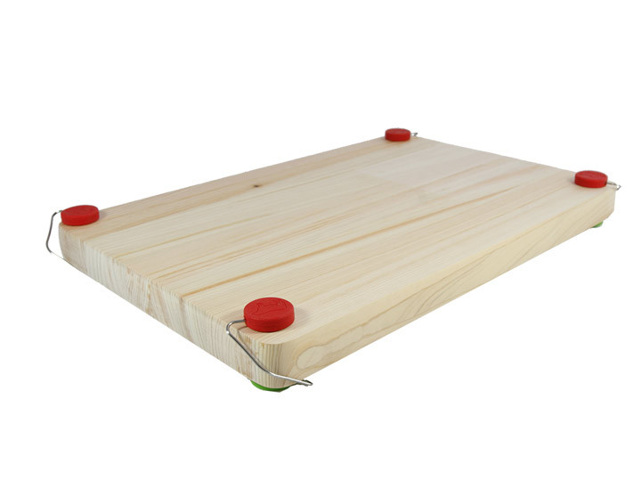 Chobs Removable Rubber Cutting Board Feet Green And Red
