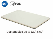 Custom white cutting board HDPE