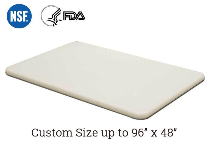 "Cutting Board White  HDPE Textured Plastic FDA Sheet 3//4/"" x 16/"" x 22/"""