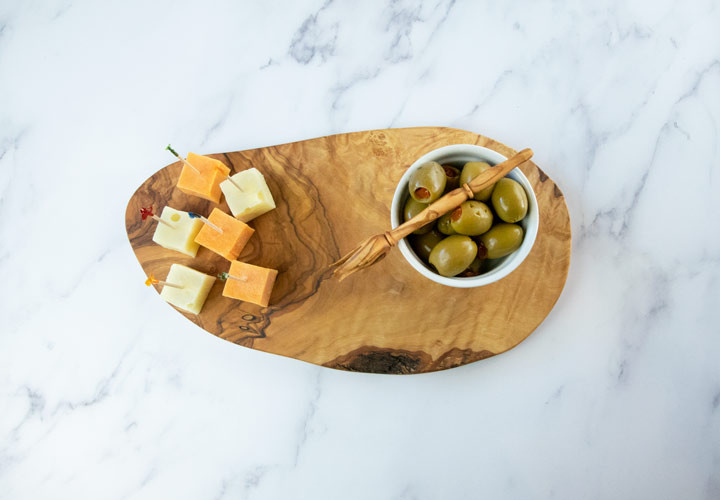Olive Wood Cheese Board for Cheese