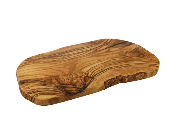 Olive Wood Cheese Board Side Profile