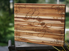 Custom Wedding Cutting Board, Full Board Design