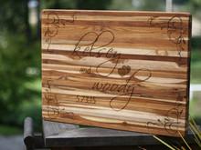 Custom Wedding Cutting Board, Full Board Design
