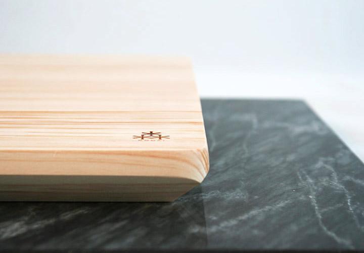 Angled Hinoki Serving Board