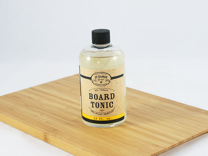 Use with bamboo cutting boards