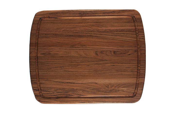 Brazilian Cherry and Jatoba Cutting Board with Groove