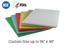 "Custom 1/2"" Color Plastic Cutting Board"