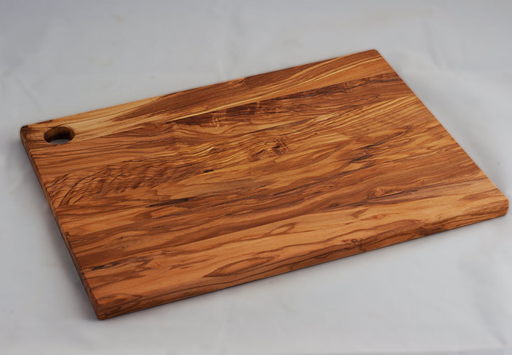 Attractive Large Wood Cutting Board Part - 5: Italian Olive Wood Cutting Board 18 Inch