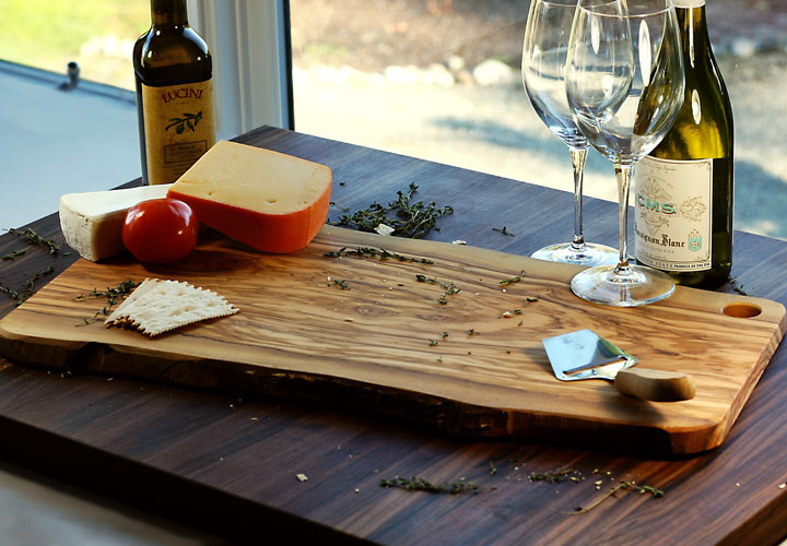 Olive Wood Slab Serving Board