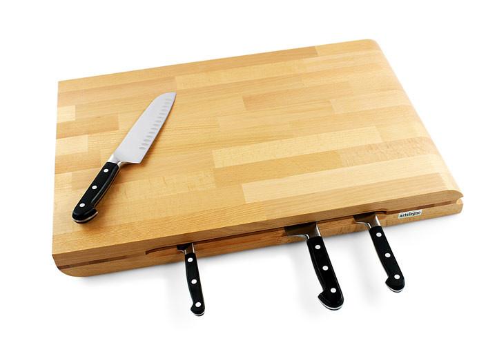 artelegno torino board and knife holder 24 x 16 x 25