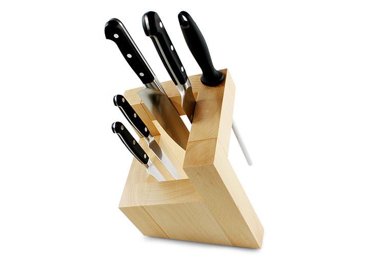 Artelegno Pisa Square Magnetic Knife Block