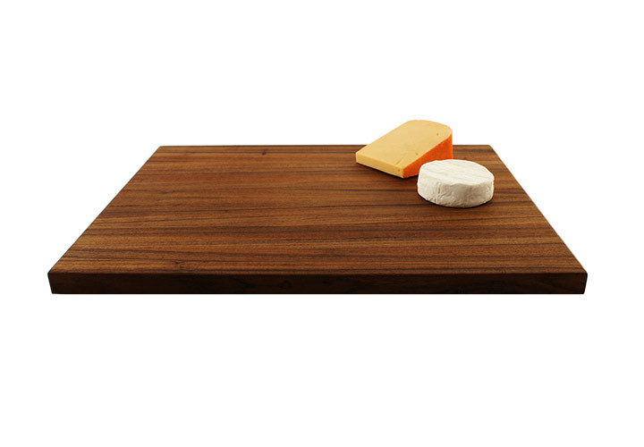 Teak cutting board side