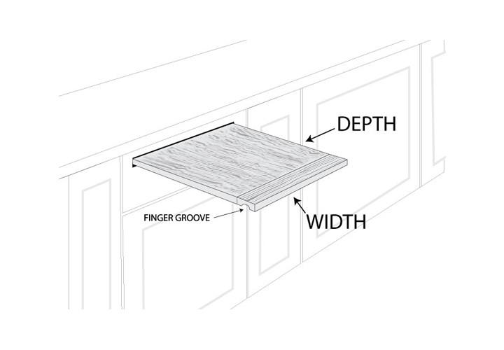 Custom Teak Pullout Cutting Board - CuttingBoard.com