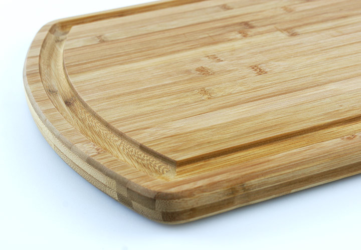 Carving board made from bamboo close up