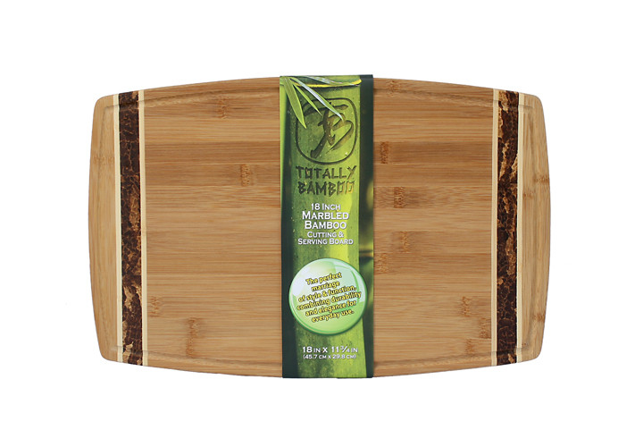 "Totally Bamboo Marbled 18"" Cutting Board"