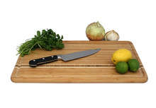 Bamboo Cutting Board with Inlay
