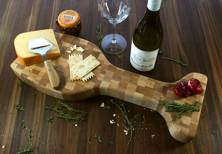 Wine Glass Cheese Display