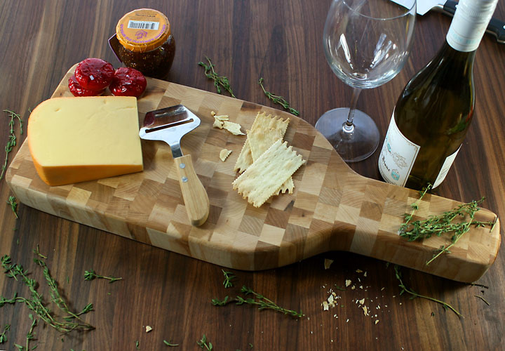 Wine Bottle Cheese Board Display