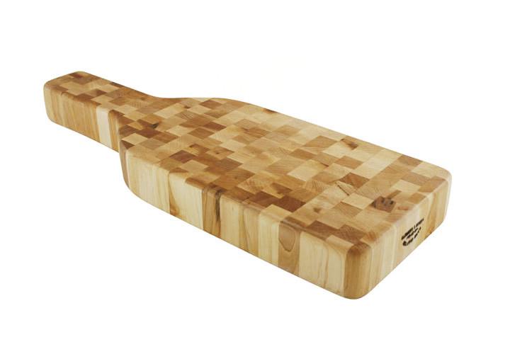 Weber Maple Wine Bottle Cheese Board