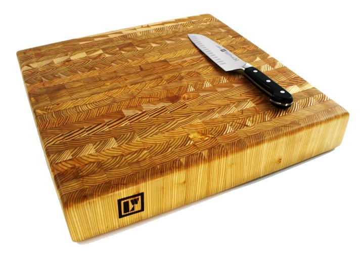Large Wood Cutting Board Part - 36: Larch Wood Butcher Block