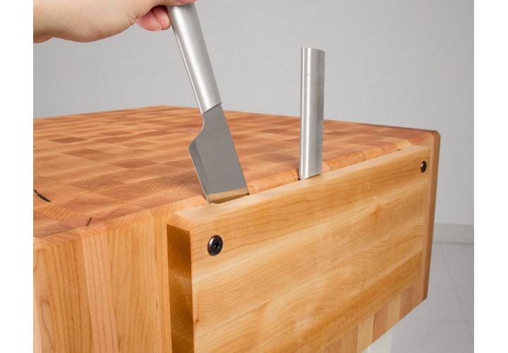 John Boos PCA Butcher Block Maple Knife Holder