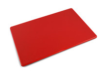Commercial Red Plastic HDPP Cutting Board 18 x 12