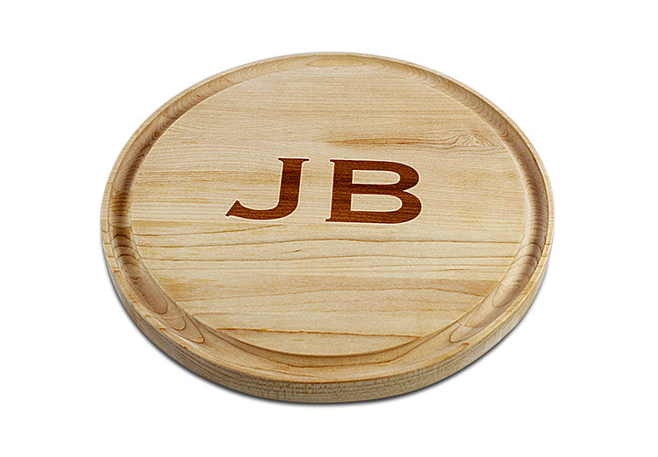 Monogrammed Maple Cutting Board