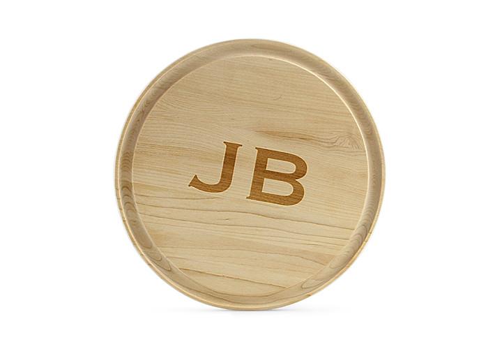Round Maple Monogrammed Cutting Board