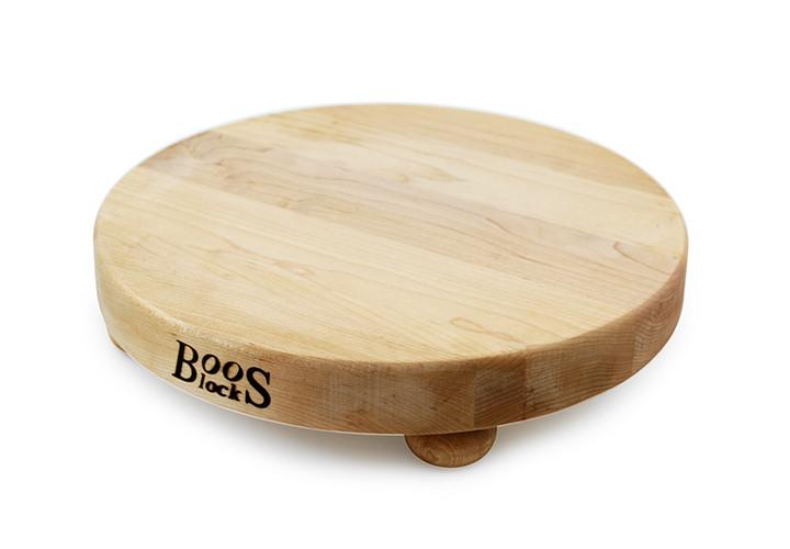 John Boos round board with bun feet