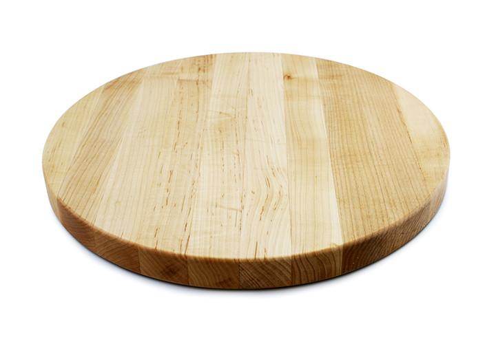 Round maple Boos board