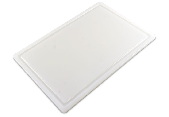 Commercial White Plastic Carving Board 18 x 12 x 1/2 Inch