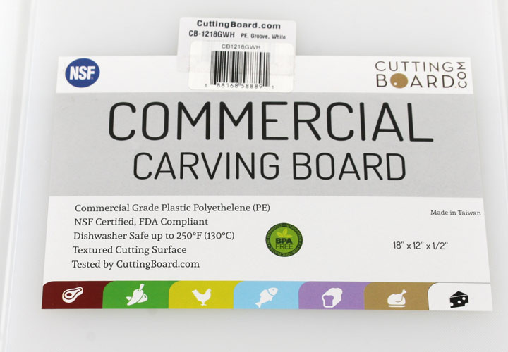 Commercial Carving Board Label