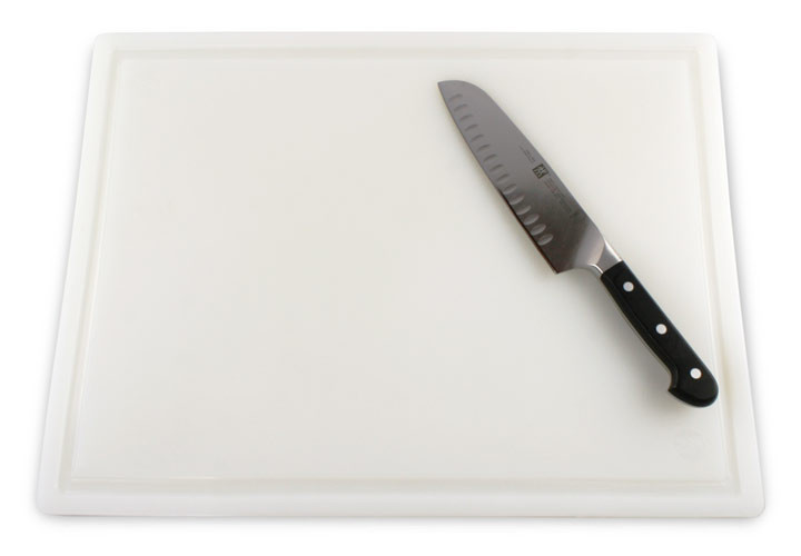 Plastic Carving Board with Juice Groove