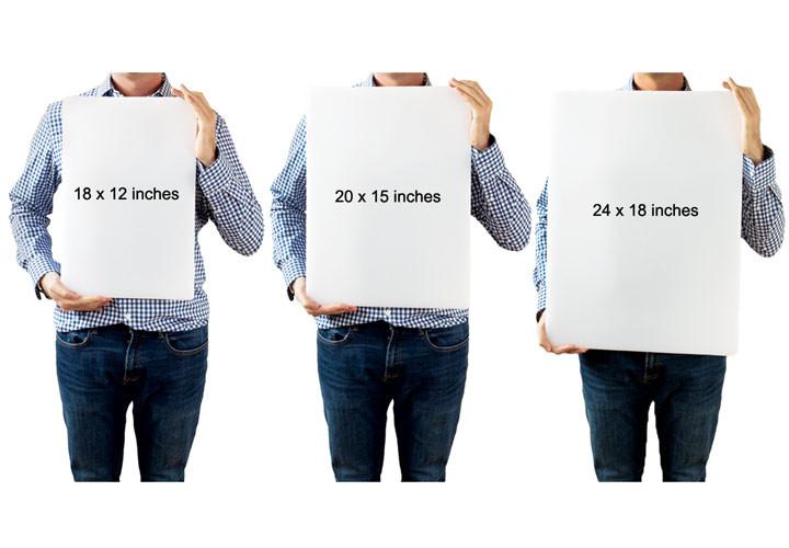 Plastic cutting board size comparison