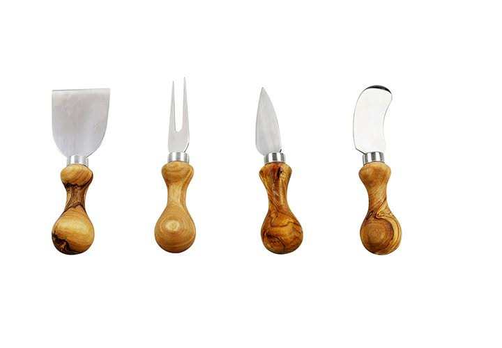 Beautiful olive wood cheese knives
