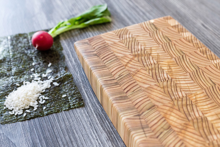 Larch Wood Large Ki Serving Board 36 x 6.5 x 1.5 Lifestyle