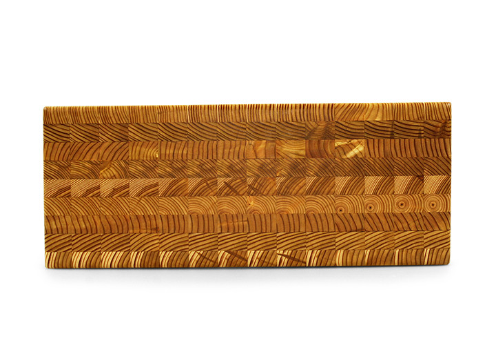 Larch Wood Double Cheese Board End Grain