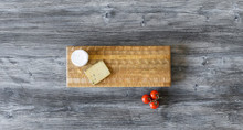 Larch Wood Double Cheese Board 17.75 x 7 x 1.5 Lifestyle