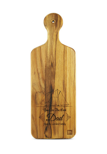 Personalized Cutting Board for Dad, Nautical Theme in Teak