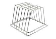 Stainless steel 18/10 cutting board rack and organizer
