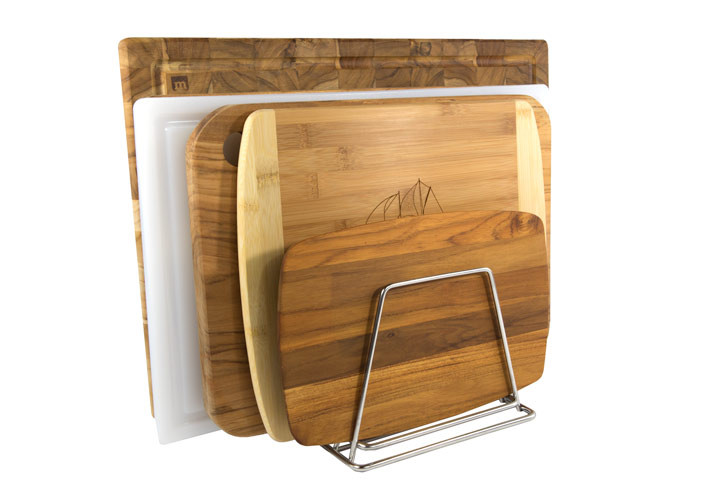Multiple cutting boards on drying rack