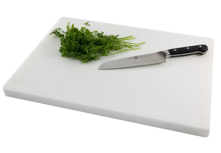 Thick HDPP commercial plastic white cutting board
